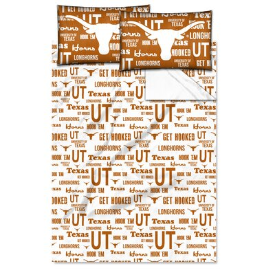 NCAA Sheet Set Size: Twin, NCAA Team: University�of Texas