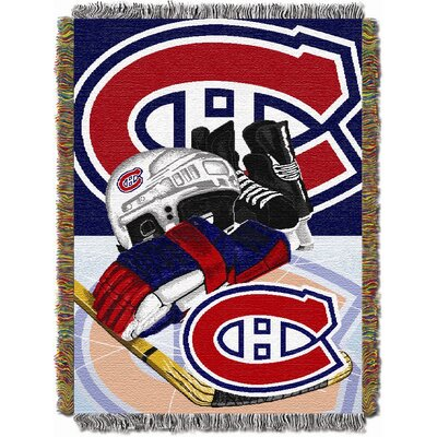 NHL Home Ice Advantage Tapestry Throw Blanket NHL Team: Montreal Canadiens