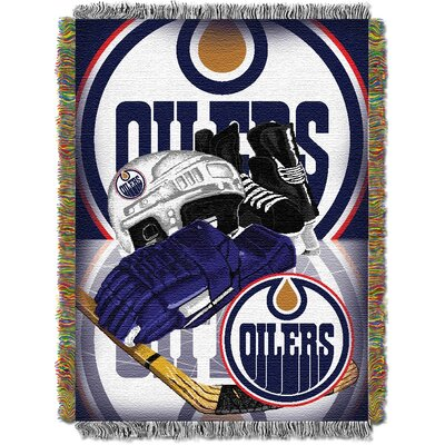 NHL Home Ice Advantage Tapestry Throw Blanket NHL Team: Edmonton Oilers
