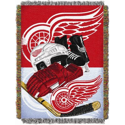 NHL Home Ice Advantage Tapestry Throw Blanket NHL Team: Detroit Redwings