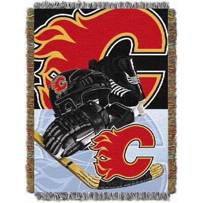 NHL Home Ice Advantage Tapestry Throw Blanket NHL Team: Calgary Flames