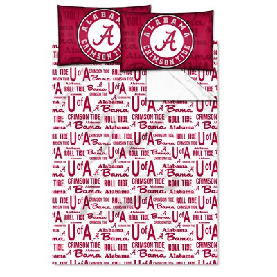 College NCAA Alabama Sheet Set Size: Full