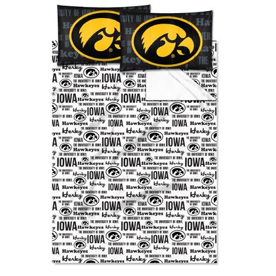 NCAA Iowa Sheet Set Size: Twin