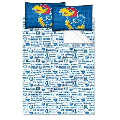 NCAA Sheet Set Size: Twin, NCAA Team: University�of�Kansas