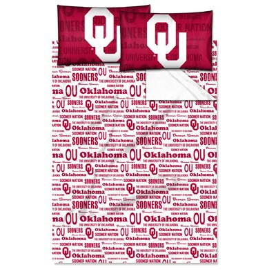 NCAA Sheet Set Size: Twin, NCAA Team: University of Oklahoma
