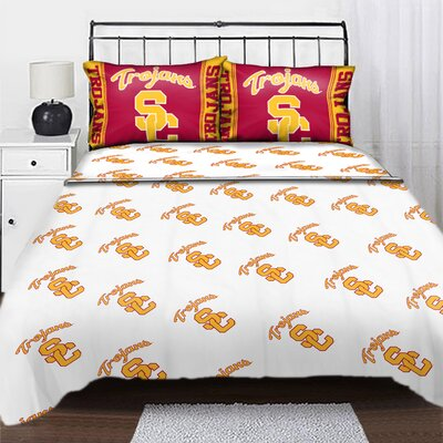 College NCAA University of Southern California Sheet Set Size: Twin