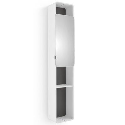 Linea Bej 12.2 x 63 Surface Mount Medicine Cabinet Finish: White / Dark Grey