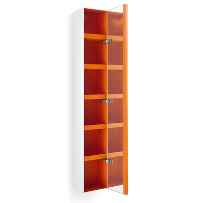Linea Ciacole 10.4 x 62.6 Surface Mount Medicine Cabinet Finish: White / Orange
