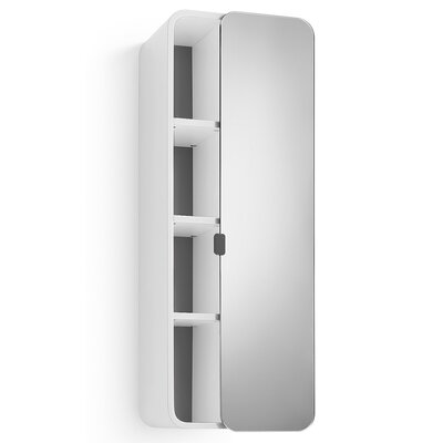 Linea Bej 12 x 31.9 Surface Mount Medicine Cabinet Finish: White / Dark Grey