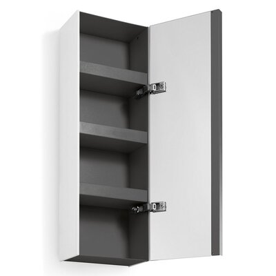 Linea Ciacole 10.4 x 31.5 Surface Mount Medicine Cabinet Finish: White /  Dark Grey