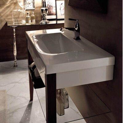 Bentley 34 Single Wood Bathroom Vanity Set Faucet Mount: Three Hole