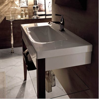 Bentley 32 Single Wood Bathroom Vanity Set Faucet Mount: Three Hole
