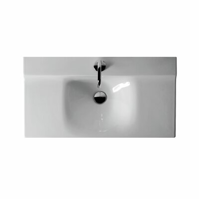 Buddy Ceramic 32 Wall Mount Bathroom Sink with Overflow