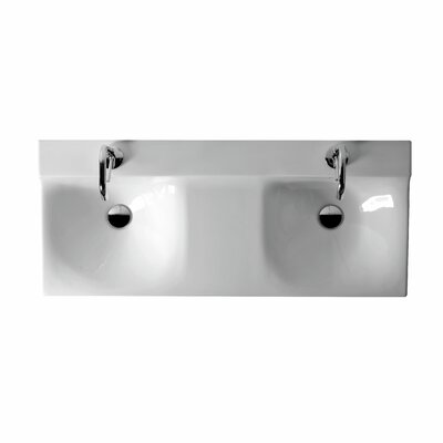 Buddy Ceramic 39 Wall mounted Bathroom Sink with Overflow
