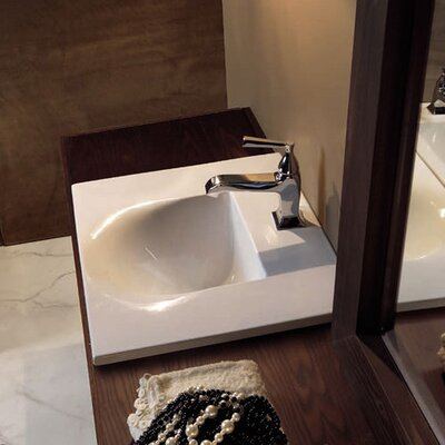 Bentley Ceramic Ceramic Rectangular Undermount Bathroom Sink Faucet Drilling: Single Hole