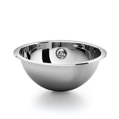Acquaio Circular Vessel Bathroom Sink with Overflow