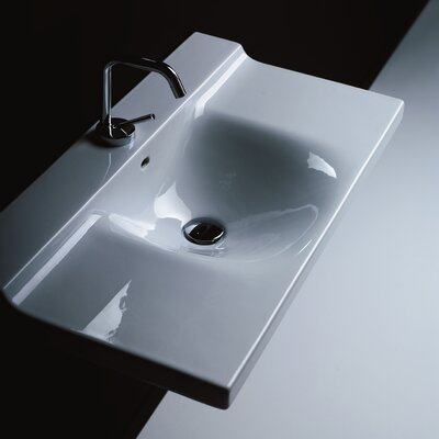Buddy Ceramic 40 Wall Mount Bathroom Sink with Overflow