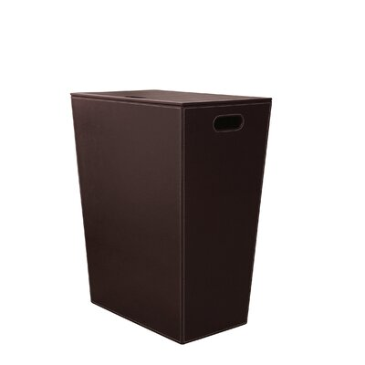 Ecopelle waste basket color chrome - High end laundry hamper ...