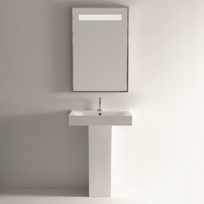 Cento Ceramic 34 Pedestal Bathroom Sink with Overflow