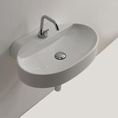 Cento Ceramic 24 Wall Mount Bathroom Sink