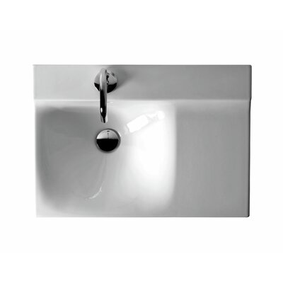 Buddy Ceramic 24Wall Mounted Bathroom Sink with Overflow