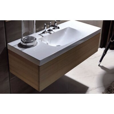 Bentley 39 Single Wood Bathroom Vanity Set Faucet Mount: Single Hole