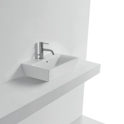 Jas Rectangular Vessel Bathroom Sink with Overflow