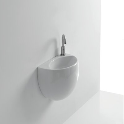 Kilo Ceramic 16 Wall Mount Bathroom Sink with Overflow