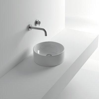 Normal Ceramic Circular Vessel Bathroom Sink