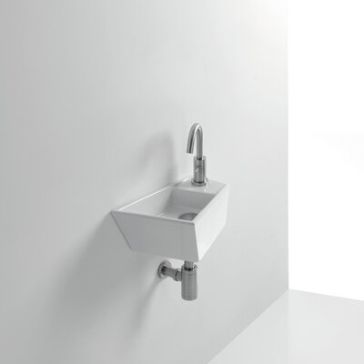 Whitestone Micro 16 Wall Mounted Bathroom Sink with Overflow
