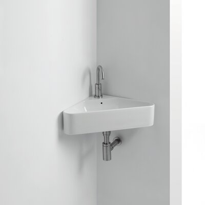 Normal Ceramic 17 Corner Bathroom Sink with Overflow