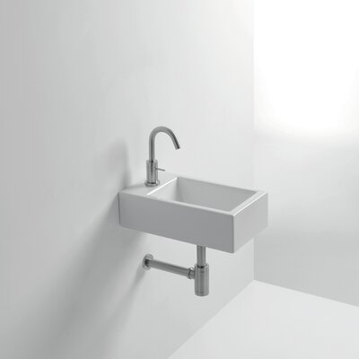 Whitestone Hox Ceramic 18 Wall Mount Bathroom Sink