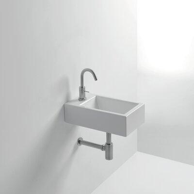 Whitestone Hox 18 Wall Mounted Bathroom Sink with Overflow