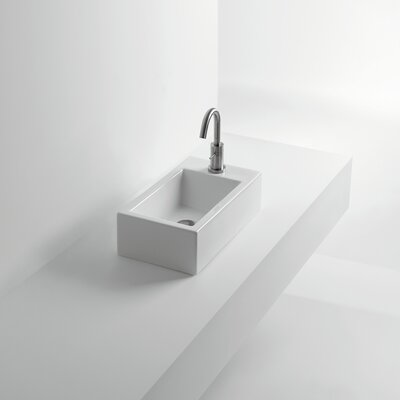 Hox Ceramic Rectangular Vessel Bathroom Sink