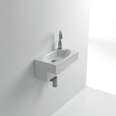 Whitestone Deca 8Wall Mounted Bathroom Sink with Overflow