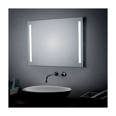 "LED Lighted Wall Bathroom Mirror Size: 23.6"" H x 31.5"" W x 0.5"" D"
