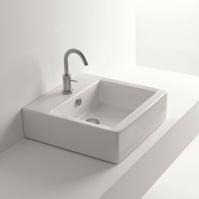 Whitestone Hox Square Vessel Bathroom Sink with Overflow
