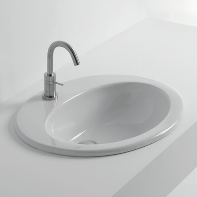 Whitestone Ceramic Oval Drop-In Bathroom Sink