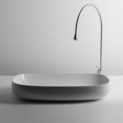 Seed Ceramic Oval Vessel Bathroom Sink