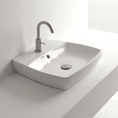 H10 Rectangular Vessel Bathroom Sink with Overflow
