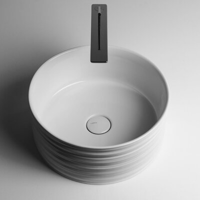Trace Ceramic Circular Vessel Bathroom Sink