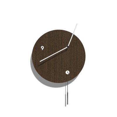 Tothora Globus Wall Clock Finish: Wenge / White