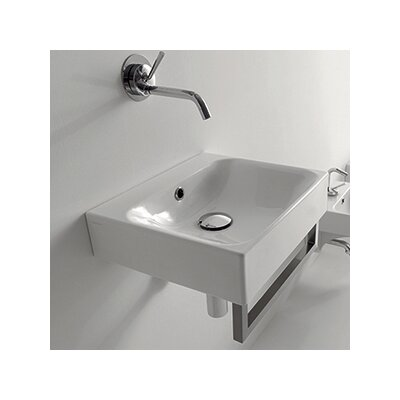 Cento Ceramic 16 Wall Mount Bathroom Sink with Overflow