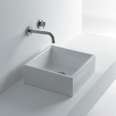 Tank Ceramic Square Vessel Bathroom Sink