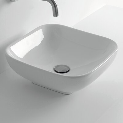 Ciotola Square Vessel Bathroom Sink