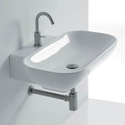 Ciotola 19.7 Wall Mounted Vessel Bathroom Sink