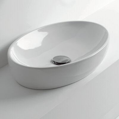 H10 Oval Vessel Bathroom Sink