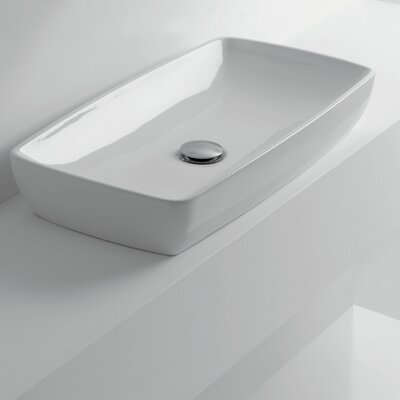 Rectangular Vessel Bathroom Sink