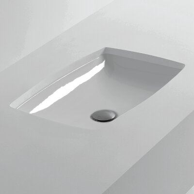 Rectangular Undermounted Bathroom Sink