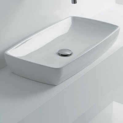 H10 Rectangular Vessel Bathroom Sink